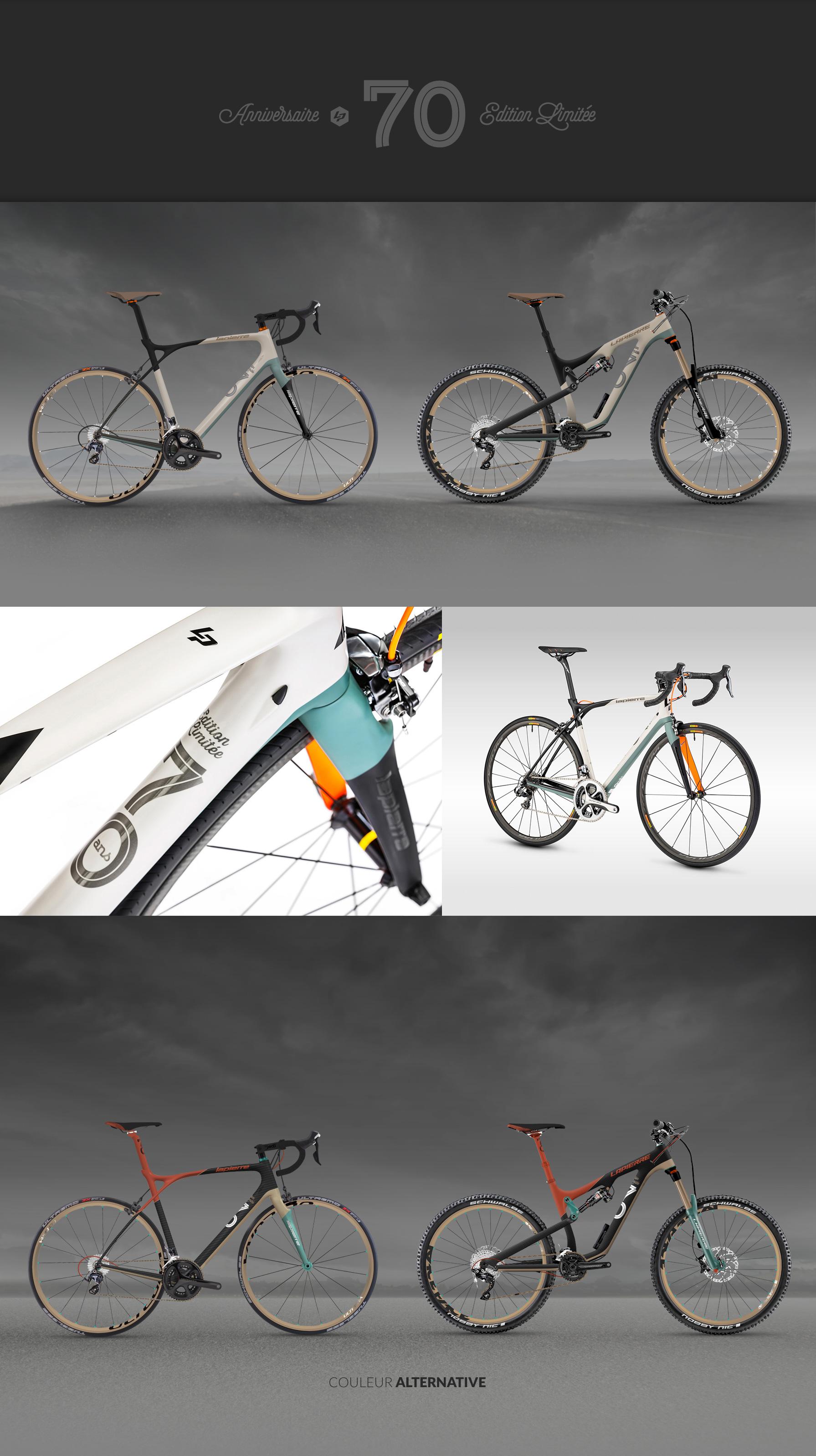 cycles lapierre 70ans habillage graphique xelius zesty