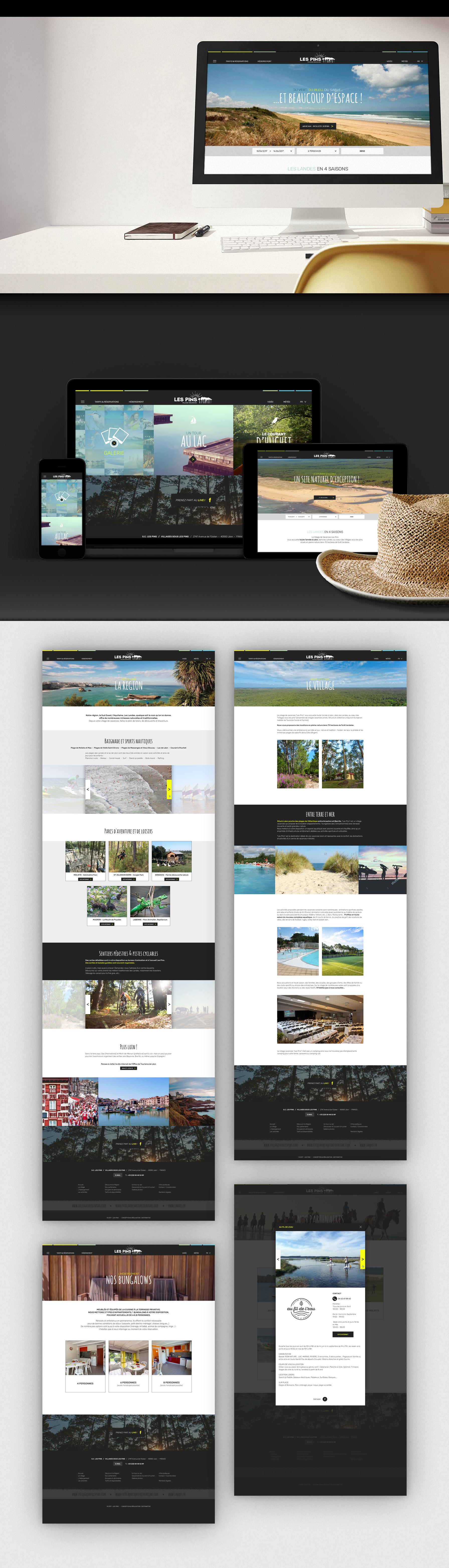 site_internet village vacances les pins